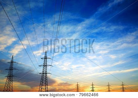 Pylon And Power Lines