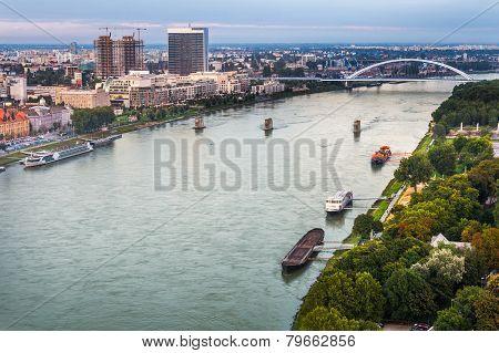 Danube River In Bratislava, Slovakia