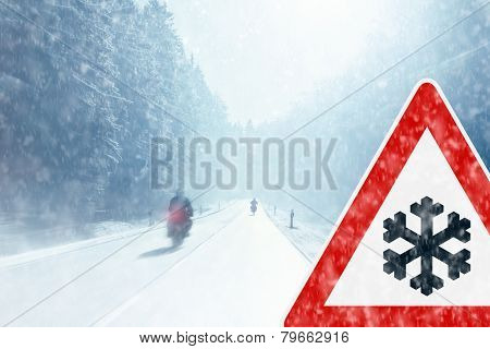 Winter Motorcycling - Caution