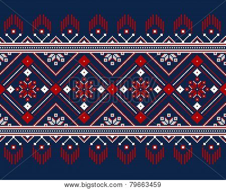 Vector Illustration Of Ukrainian Folk Seamless Pattern Ornament.