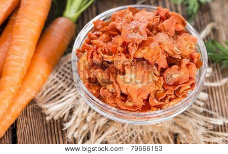 Portion Of Dried Carrots