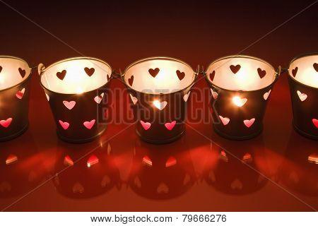 small valentine tea lght candle holders