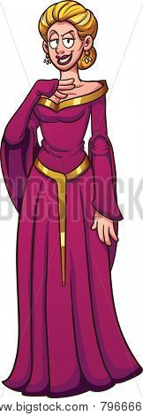 Evil queen character. Vector clip art illustration with simple gradients. All in a single layer.