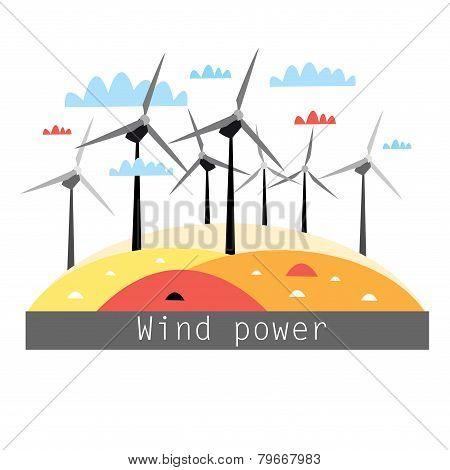 Illustration Of Wind Power