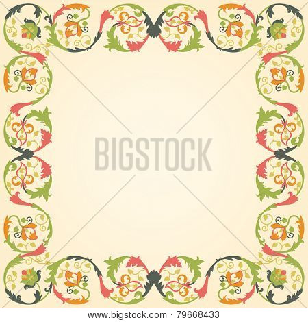 Vector illustration of retro ornament