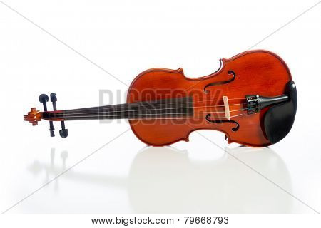 A violin on a white background