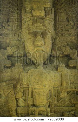 Mayan carvings, Quirigua ruins, Guatemala
