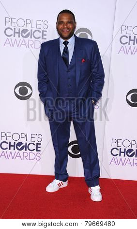 LOS ANGELES - JAN 07:  Anthony Anderson arrives to the People's Choice Awards 2014  on January 7, 2015 in Los Angeles, CA