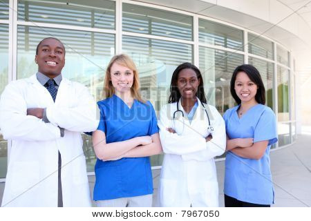 Diverse Attractive Medical Team