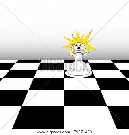 An image of a pawn in a chess game.