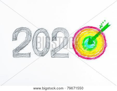 Conceptual image of Year 2020