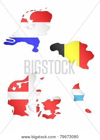 Europe Maps With Flags 3