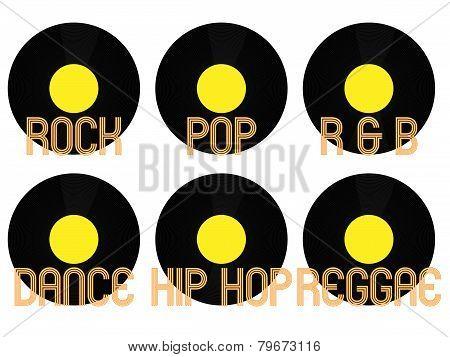 Music Genres Vinyl 3