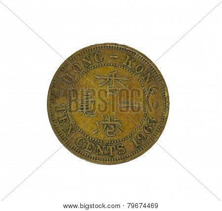 Hong Kong Ten Cents Coin