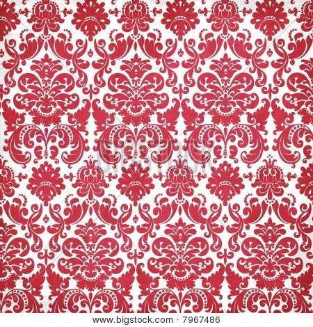 Cherry Blossom Collection Damask Pattern Texture Background