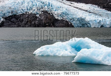 The Ice Of Portage Glacier