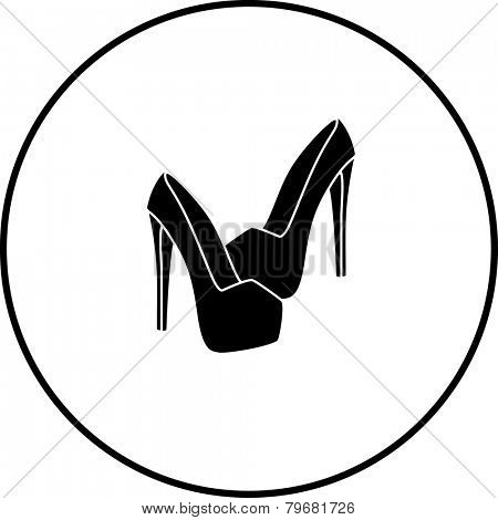 platform high heels shoes symbol