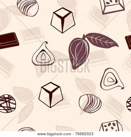 Valentine Chocolate Pattern - Illustration