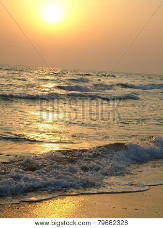 Sunrise over the Caspian Sea