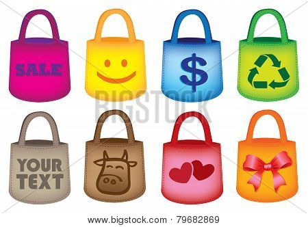 Colorful Grocery Shopping Tote Bags