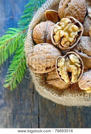 walnuts  on old wood