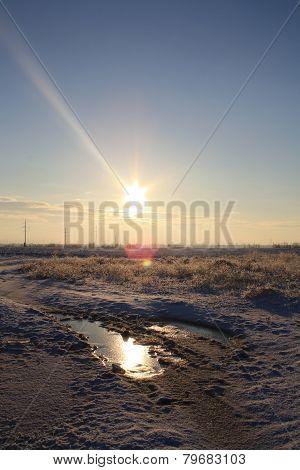 a sun and ice