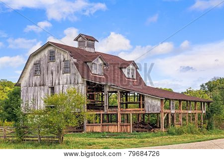 Old Interesting Barn