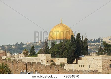 The Mousque Of Al-aqsa, View From Mount Zion