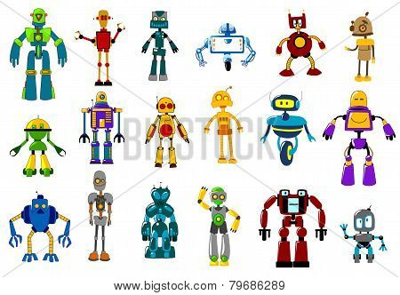 Cyborgs, robots and aliens set