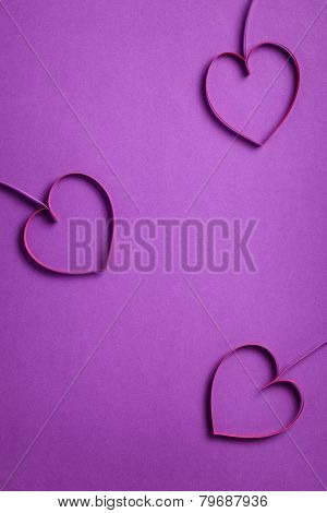 Quilling Paper Hearts Like Flowers