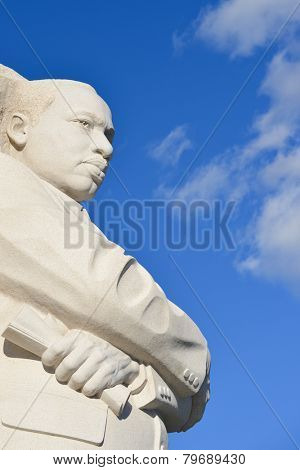 WASHINGTON DC - DECEMBER 26, 2014: The Martin Luther King Jr Memorial located on the National Mall on the Tidal Basin in Washington DC. The memorial opened to the public on August 22, 2011.