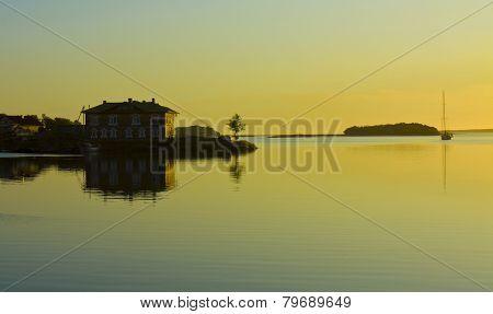 Sunset On Solovki Island