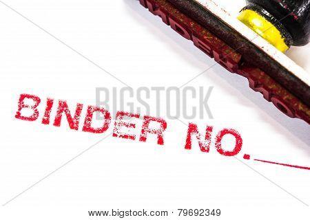 Binder Stamper Printed In Red