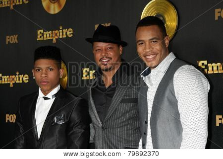 LOS ANGELES - JAN 6:  Bryshere Gray, Terrence Howard, Trai Byers at the FOX TV