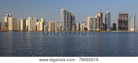 Skyscrapers in Sharjah.