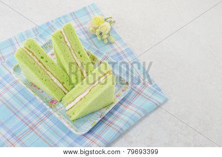 Green Chiffon Cake
