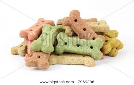 Group of dog biscuits