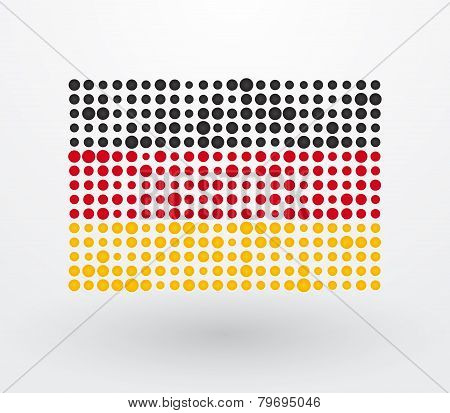 German Flag Made ??up Of Dots