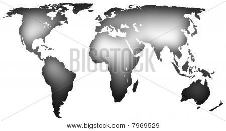 monochrome map of the world