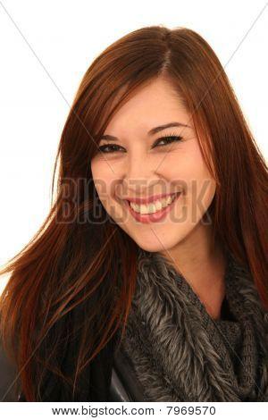 Pretty Smiling Brunette