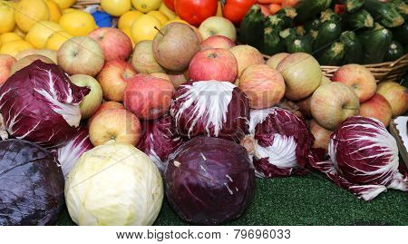 Fresh Fruit For Sale At Vegetable Market