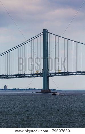 Ferry Under Bridge