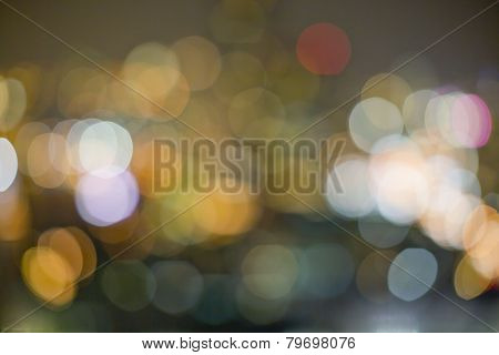 Abstract Image Of Light Flashes Against Dark Background