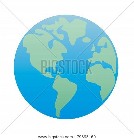 Hand drawn planet earth vector illustration