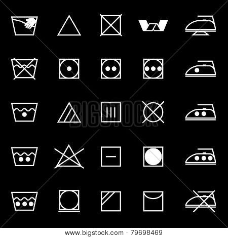 Fabric Care Sign And Symbol Icons On Gray Background