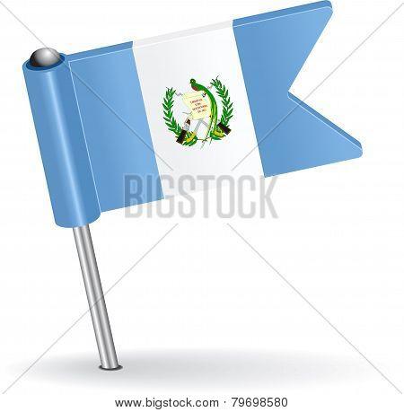 Guatemala pin icon flag. Vector illustration