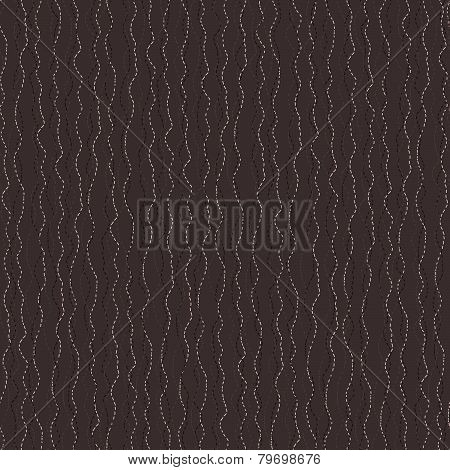 Abstract hand-drawn Wavy Pattern. Stylized seamless texture with dashed Curves.