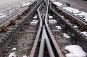 A Cog Railway, Pens And Rails Railway, Rack-and-pinion Railway Or Rack Railway. Jungfraubahn, Switze