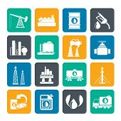 picture of petrol  - Silhouette Petrol and oil industry icons  - JPG