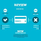 picture of debit card  - Review with five stars rating - JPG